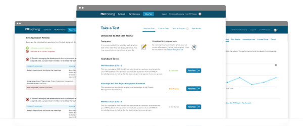 pm training exam portal