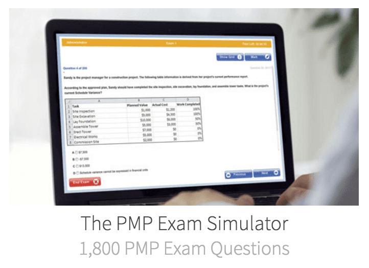 simulator ການສອບເສັງ pmp