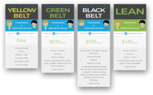 Go Lean Six Sigma Pricing