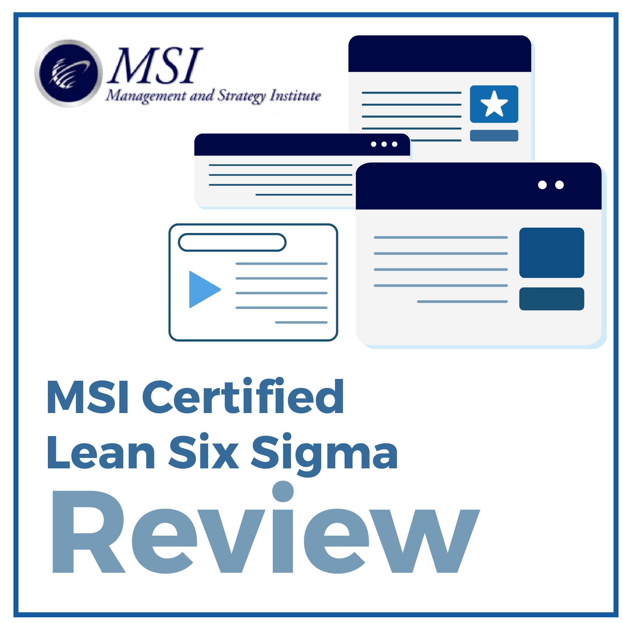MSI Certified Lean Six Sigma Review [Management and Strategy ...